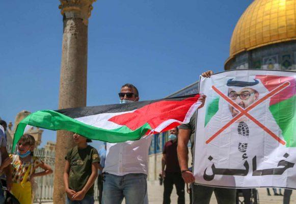 Al Aqsa UAE protest AFP