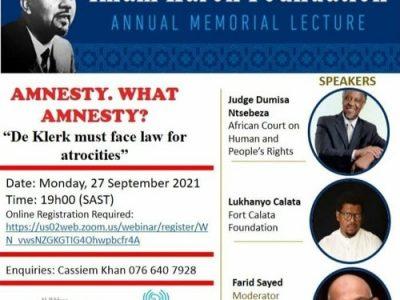 Imam-Haron Lecture 2021