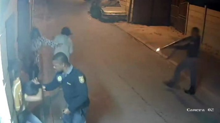 Police Attack Delft Resident -Screengrab Daily Voice