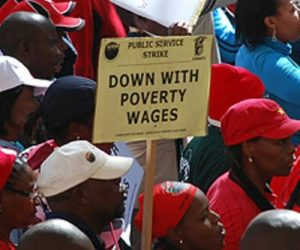 Union Protest Wages