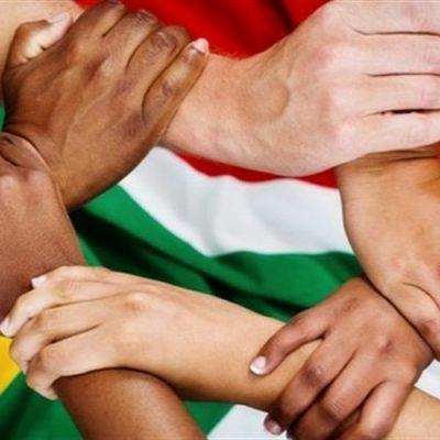 hands interlocked SA flag